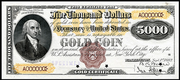 1888 $5000 Gold Certificate Red Seal