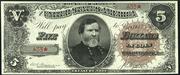 1890 $5 Treasury Note Brown Seal
