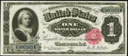 1891 $1 Silver Certificates Red Seal with scallops