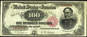 1891 $100 Treasury Note Red Seal
