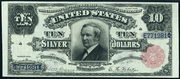 1891 $10 Silver Certificates Red Seal