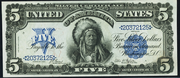 1899 $5 Silver Certificates Blue Seal