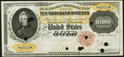 1900 $10000 Gold Certificate Red Seal