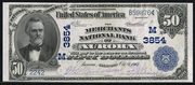 1902 $50 National Bank Notes Blue Seal