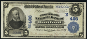 1902 $5 National Bank Notes Blue Seal