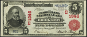 1902 $5 National Bank Notes Red Seal