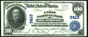 1902 $100 National Bank Notes Blue Seal