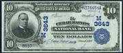 1902 $10 National Bank Notes Blue Seal