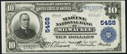 1902 $10 National Bank Notes Blue Seal