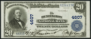 1902 $20 National Bank Notes Blue Seal