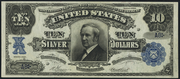 1908 $10 Silver Certificates Blue Seal