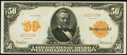 1913 $50 Gold Certificate Gold Seal