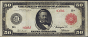 1914 $50 Federal Reserve Note Red Seal