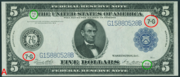 1914 $5 Federal Reserve Note Blue Seal