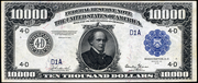 1918 $10000 Federal Reserve Note Blue Seal