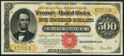 1922 $500 Gold Certificate Red Seal