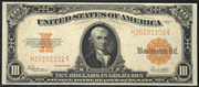 1922 $10 Gold Certificate Gold Seal
