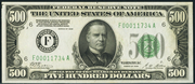 1928 $500 Federal Reserve Note Green Seal