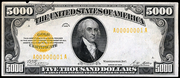 1928 $5000 Gold Certificate Gold Seal