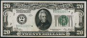 1928 $20 Federal Reserve Note Green Seal