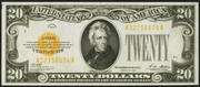 1928 $20 Gold Certificate Gold Seal