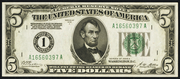 1928A $5 Federal Reserve Note Green Seal