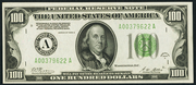 1928A $100 Federal Reserve Note Green Seal