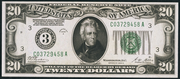 1928A $20 Federal Reserve Note Green Seal