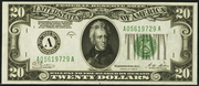1928B $20 Federal Reserve Note Green Seal