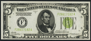 1928D $5 Federal Reserve Note Green Seal