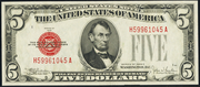 1928E $5 Legal Tender Red Seal