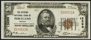 1929 $50 National Bank Notes Brown Seal