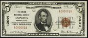 1929 $5 National Bank Notes Brown Seal