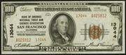 1929 $100 National Bank Notes Brown Seal