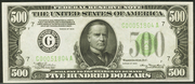 1934 $500 Federal Reserve Note Green Seal