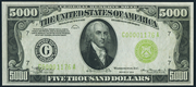1934 $5000 Federal Reserve Note Green Seal