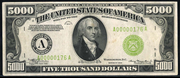 1934B $5000 Federal Reserve Note Green Seal