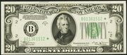 1934B $20 Federal Reserve Note Green Seal