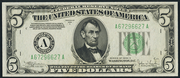 1934C $5 Federal Reserve Note Green Seal