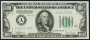 1934C $100 Federal Reserve Note Green Seal