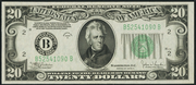 1934C $20 Federal Reserve Note Green Seal