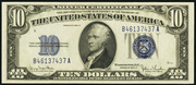 1934D $10 Silver Certificates Blue Seal
