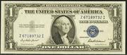 1935F $1 Silver Certificates Blue Seal
