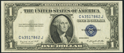 1935G $1 Silver Certificates Blue Seal