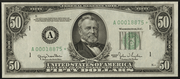 1950 $50 Federal Reserve Note Green Seal