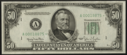 1950A $50 Federal Reserve Note Green Seal