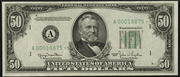 1950B $50 Federal Reserve Note Green Seal