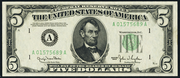 1950B $5 Federal Reserve Note Green Seal