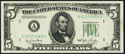 1950C $5 Federal Reserve Note Green Seal