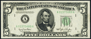 1950D $5 Federal Reserve Note Green Seal